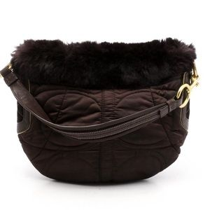 Coach Limited Edition Rabbit Fur Hobo Bag